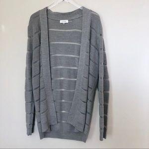 Calvin Klein Wool Blend Knit Cardigan Open Front